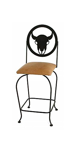 Grace Collection Iron Bar Stools (Frontier Wrought Iron Swivel-24