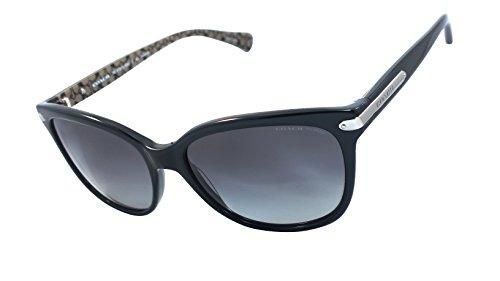 Coach Hc8132 (L109) 100% Authentic Women's Polarized Sunglasses (Black / Black Military Sig C) 5261t3
