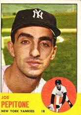 1963 Topps Regular Baseball Card 183 Joe Pepitone Of The New York