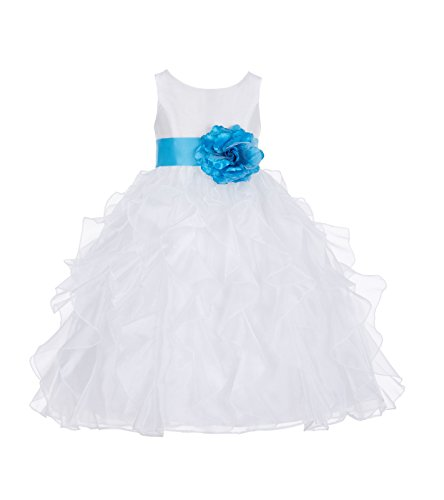 6c5ff0ccecc ekidsbridal White Ruffled Organza Flower Girl Dress Christening Dress  Baptism Dress 168T 8. Material