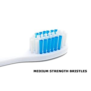Travel Toothbrush, On The Go Folding Feature, medium bristle brushes (2 pack) (Blue-Green)