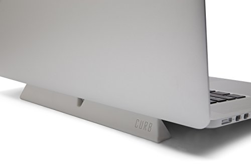 designed by many CURB Universal Portable Ergonomic Laptop Stand Lightweight Dual Viewing Position Light Gray by designed by many (Image #3)