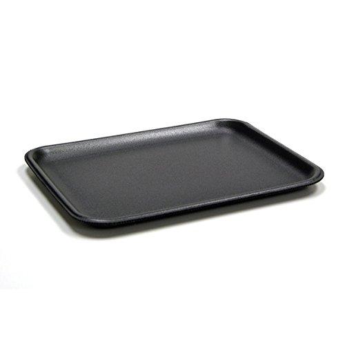 Black Foam Meat Tray - CKF 4SB, 4S Black Foam Meat Trays, Disposable Standart Supermarket Meat Poultry Frozen Food Trays, 100-Piece Bundle