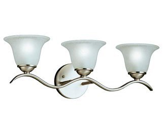 Kichler 6323NI Dover Bath 3-Light, Brushed Nickel by KICHLER