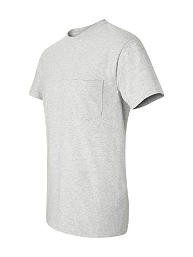 - Gildan Mens 6.1 oz. Ultra Cotton Pocket T-Shirt G230 -ASH GREY XL