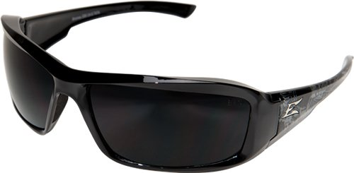 Edge Eyewear XB116-S Brazeau Safety Glasses, Black Skull Series with Smoke Lens