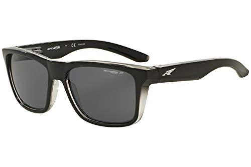 Arnette Sunglasses White - Arnette Mens Syndrome Sunglasses (AN4217) Black/Grey Plastic - Polarized - 57mm