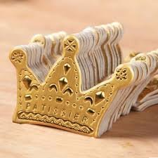 Gold Crown Cupcake Toppers Royal Prince Princess Birthday Party Toppers Crown Confetti Pack of 50 CraftBoutique