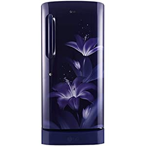 LG 215 L 4 Star Inverter Direct Cool Single Door Refrigerator (GL-D221ABGY, Blue Glow, Base stand with drawer)
