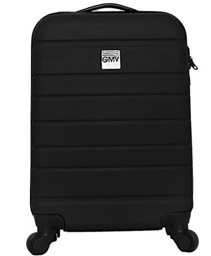 Hard Shell ABS 4 wheel Spinner Lightweight Hand Luggage Cabin Travel Trolley (BLACK) Abs Trolley