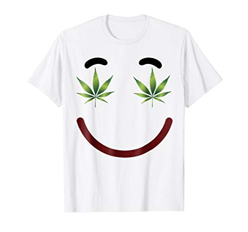 (Halloween Emojis Stoner Costume Shirt Smile Face Weed)