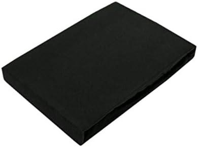Exklusiv Heimtextil - Sábana bajera ajustable con goma elástica en todo el contorno, 100 % algodón, Negro , 90 - 100 x 200 cm: Amazon.es: Hogar