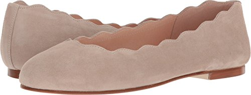 French Sole FS/NY Womens Jigsaw Ballet Flat Nude Suede UYogfc4co
