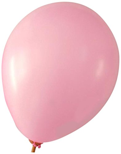 Homeford Premium Latex Balloons Plain Color, 12-Inch, Pink, 12-Pack (Balloon Pink)
