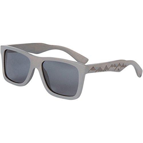 Wood Sunglasses - SHINER Gray Bamboo Wooden Sunglasses with Polarized Black Lens (Zumiez Sunglasses)