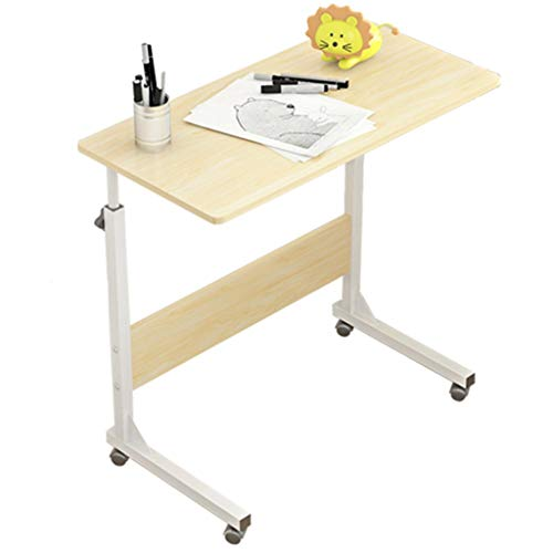 Desks Table Freely Moveable Computer Simple Adjustable Height Lift Table Bed Assembly 8040/50 Size Brown (Color : Brown, Size : 805071cm)