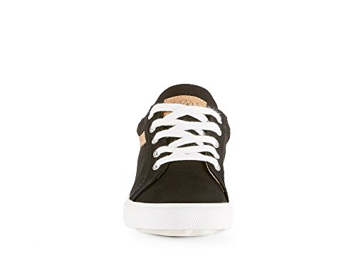 Shoes Sole Womens Sneakers Fashion Summer Perfect Trendy Black Fall DREAMPUNCH Denim amp; Casual from Made Textile Skate for White Season with Spring Fabric Or SwfvxEq4