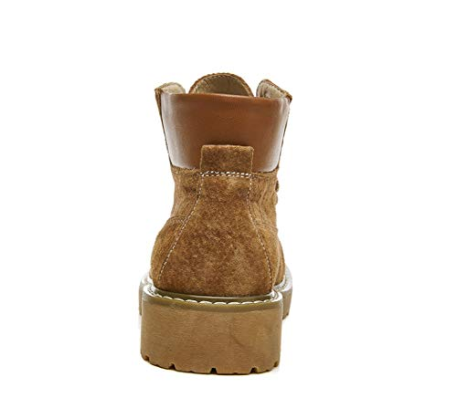 Martin Damen Booties LIANGXIE Schuhe Toe Student Stiefel Boots Stiefel Stiefel Retro Fashion Damen Wild Leder Stiefel Tube Flache Desert Ankle Braun Boots Martens 1XwYXqO