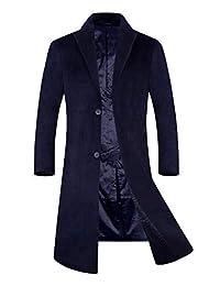 APTRO Men's Wool Coat Trench Coat Long Winter Jacket