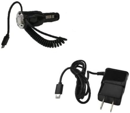 FYL 2 AMP Car Charger Wall Home Travel Charger for LG Ultimate 2 L41C Realm LS620