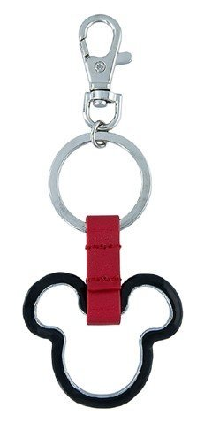 Disney Parks Keychain - Black Metal Mickey Icon Outline