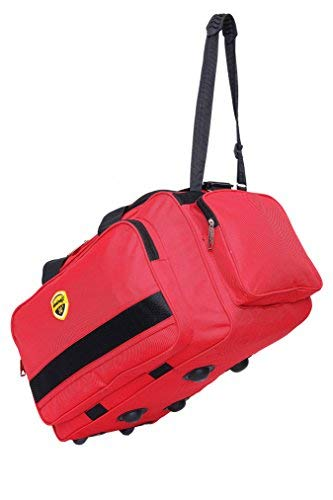 Hard Craft Nylon Lightweight Waterproof Red Luggage Travel Bag with Roller  Wheels  Amazon.in  Bags, Wallets   Luggage d7e1b0ebcc