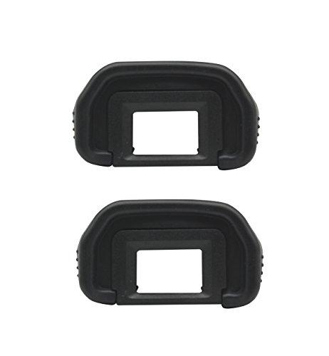 CEARI [2 Pack] EB Rubber Eyecup Eyepiece Viewfinder for Canon EOS 50D 60D 70D 5D 6D 5D2 5D Mark II DSLR Camera + MicroFiber Clean Cloth