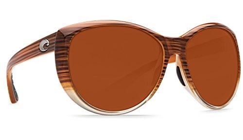 Costa Women's Costa La Mar 580 Plastic Wood Fade/Copper 580P Plastic Lens Sunglasses