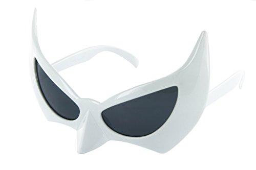 Retro Catwoman Costumes - MJ Eyewear Batman Sunglasses Face Mask Catwoman Costume (White, Black)
