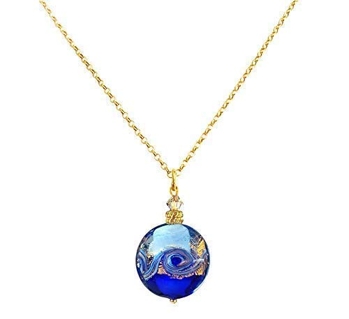 Murano Glass Bead Necklace 'Venetian Wave' by I Love - Venetian Glass Necklace
