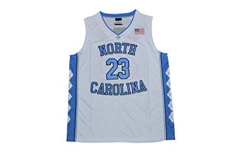 Men's Michael Jordan #23 North Carolina Tar Heels 2016 College Basketball Jersey White/X-Large