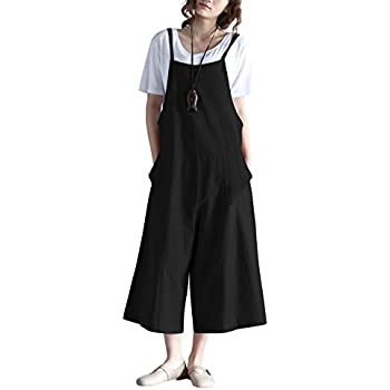 fde87d9981e Amazon.com  Hulaha Womens Linen Loose Fit Overalls Jumpers  Clothing
