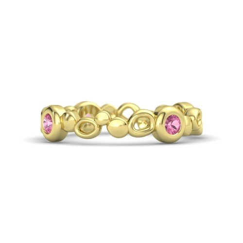 14K Yellow Gold Ring with Pink Tourmaline â€