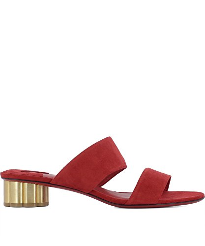Ferragamo Women's Red Sandals Suede 0671036 Salvatore 7awCqfp