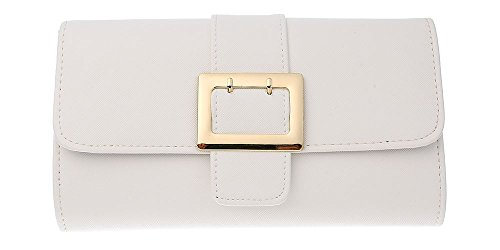 Faux Party Bag Clutch White Ladies Leather Womens Purse Bag Evening Envelope Clutch dqEpwvA8x