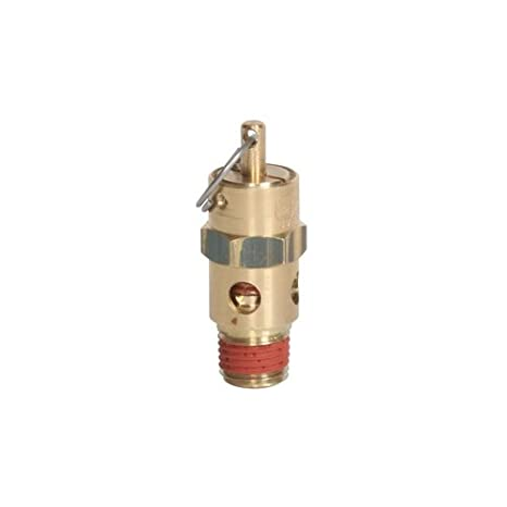 250 Degree F Max Temperature 1//4 NPT 70 psi 1//4 NPT All Brass Construction Midwest Control ST25-70 ASME Soft Seat Safety Valve
