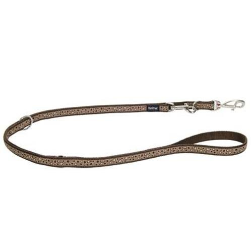 Red Dingo Bedrock Brown multi-purpose dog leash 6,5ft Large
