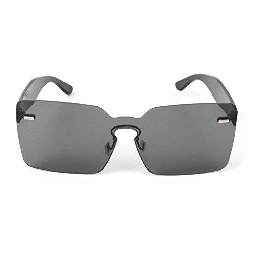 de Bk color integradas JAGENIE de gris Gafas cuadradas sol caramelos mujer para Pk diseño Ogqq5Yvw