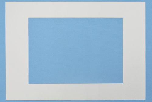 Passepartout 3er Set Weiss 13x18 cm mit Ausschnitt für 10x15 cm Bilder, 3 Stück Passepartouts in Museumsqualität