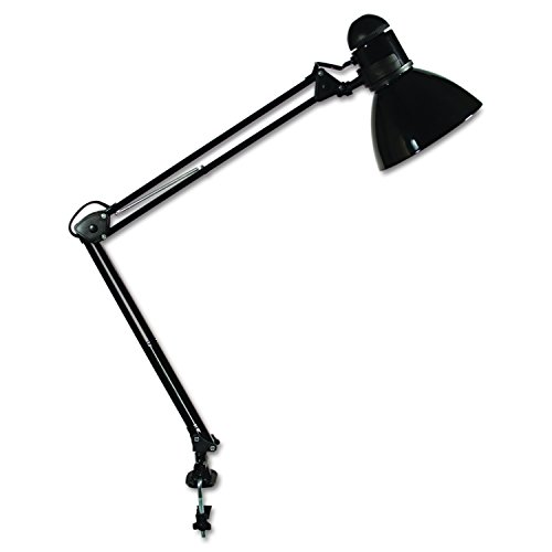 LEDU Opti Series Swing Arm Desk Lamp, 34-Inch Height, Black (L502BK) (Table Richard Lamp Metal)