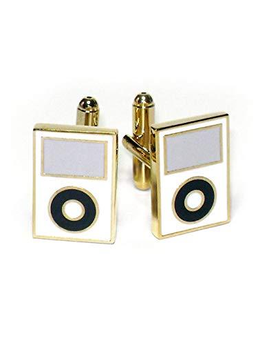 Krisar Gold-Tone Men's Cuff Links White MP3 Player ()