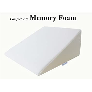 InteVision Foam Wedge Bed Pillow (25  x 24  x 12 ) with High Quality, Removable Cover