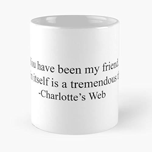 Charlottes Web Wilbur Charlotte E B White - Handmade Funny 11oz Mug Best Holidays Gifts For Men Women Friends.
