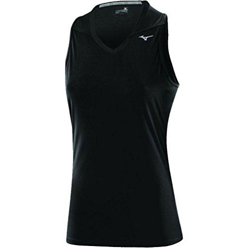 Mizuno Drylite Core Women's Sleeveless Top Running Vest - Large - Black