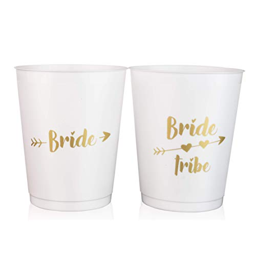 bride tribe and bachelorette party cups personalized reusable bridal shower party cups 12 piece