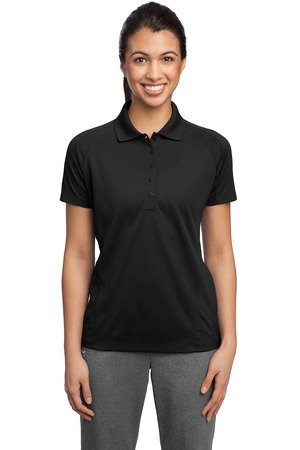 Sport-Tek Ladies Dri-Mesh Pro Sport Shirt, Black, X-Large