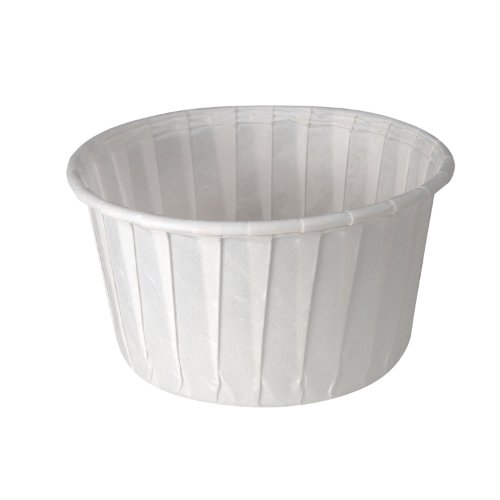 SOLO 550-2050 Pleated Paper Soufflé 5.5-oz. Capacity White (20 Packs of 250 cups)