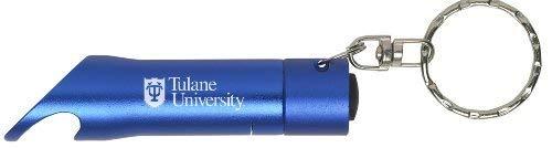 Tulane University - LED Flashlight Bottle Opener Keychain - Blue