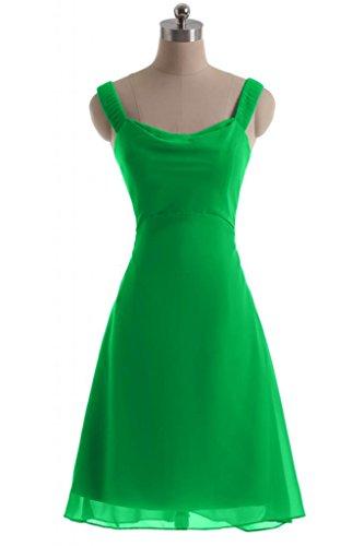 Chiffon Costume Sunvary Prom da abito in Line Green d'onore feste per damigella A semplice Dress rXXwqZ8