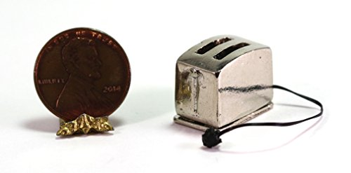 """Dollhouse Miniature Silver """"Retro Look"""" Toaster with for sale  Delivered anywhere in USA"""